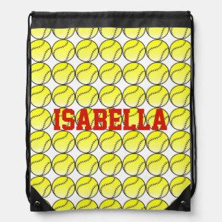 Softball Sack Drawstring Bag