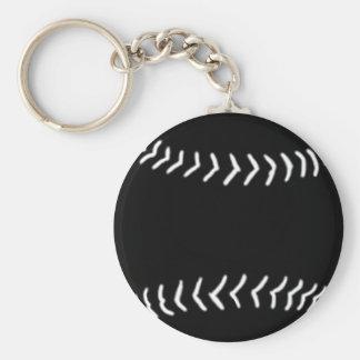Softball Silhouette Keychain Black