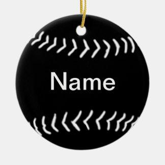 Softball Silhouette Ornament Black