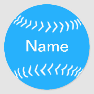 Softball Silhouette Sticker Blue
