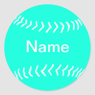 Softball Silhouette Sticker Turquoise