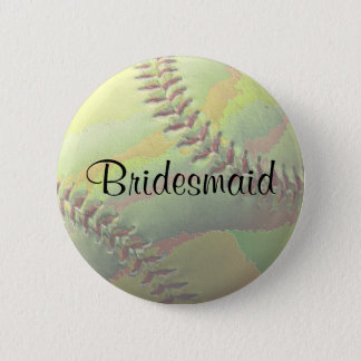 Softball Sports Wedding Theme Wedding Party 2 Inch Round Button