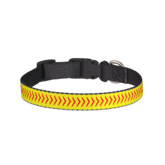 Softball Stitches Dog Collar