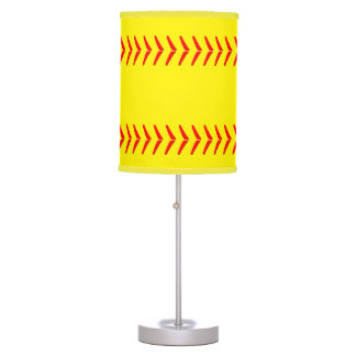 Softball Stitches Table Lamp