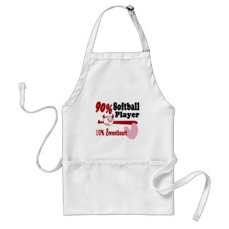 Softball Sweetheart Adult Apron
