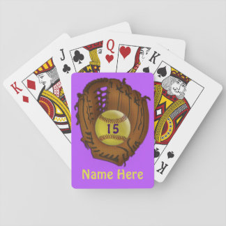 Softball Team Gifts PERSONALIZED Playing Cards