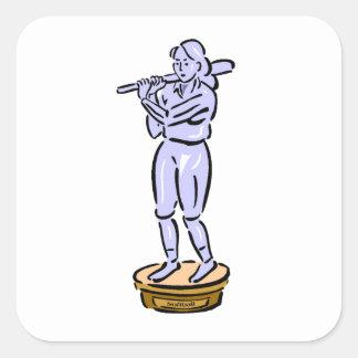 Softball Trophy Square Sticker