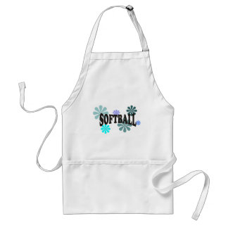 Softball with Blue Flowers Aprons