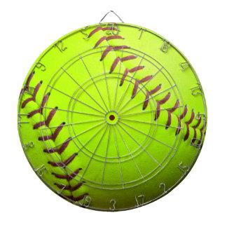 Softball Yellow Fast Pitch 8U 10U 12U Dartboard