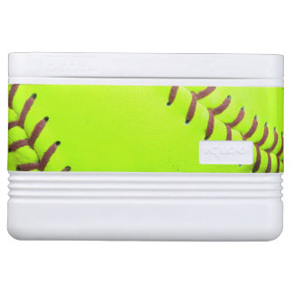 Softball Yellow Fast Pitch 8U 12 Can igloo Cooler