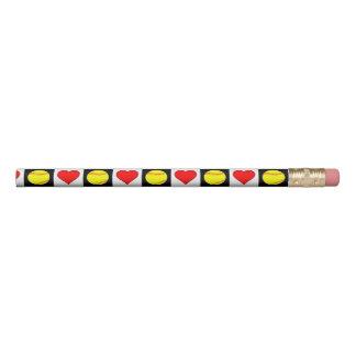 Softballs & Hearts Cute Fastpitch Softball Pencil