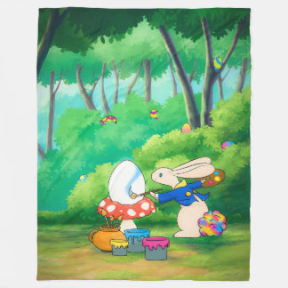 Softer Silly Little Bunny XL Fleece Blanket
