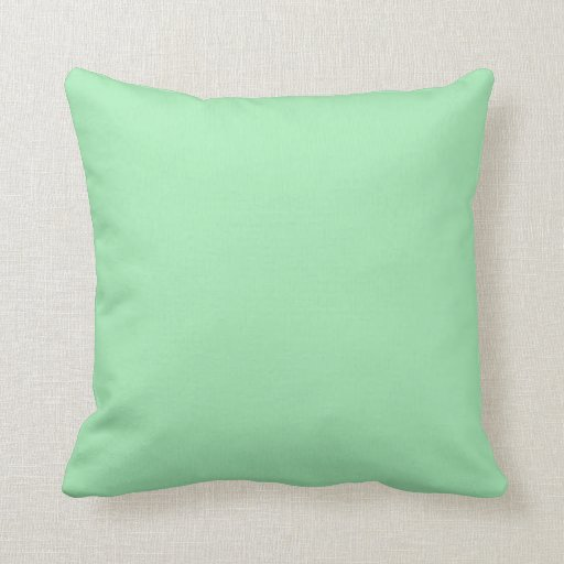 Softest Spring Light Green Personalized Background Pillows