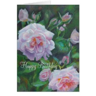 Softly Pink Rose Birthday Card