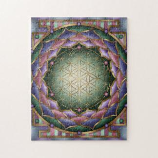 Softness Mandala Print by Rachel C. Bemis Jigsaw Puzzle