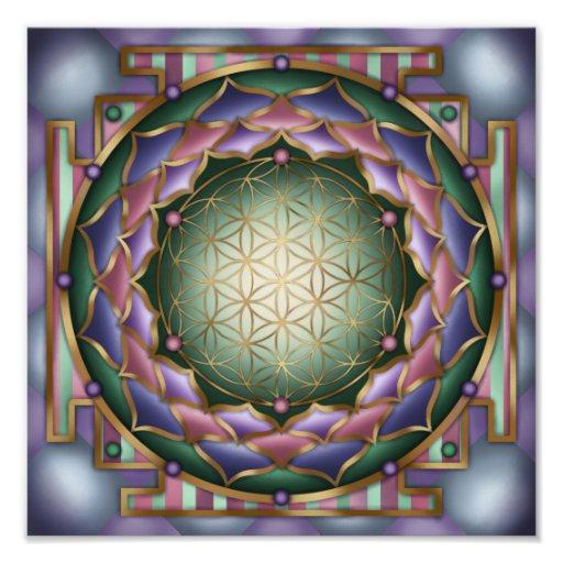 Softness Mandala Print by Rachel C. Bemis Photo Art