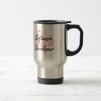 Software Developer Artistic Job Design with Butter Travel Mug
