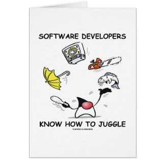 Software Developers Know How To Juggle (Duke) Card