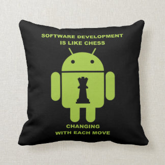 Software Development Is Like Chess Changing Move Throw Pillow
