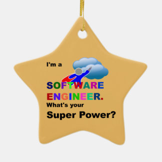 Software Engineer Superhero Ceramic Ornament