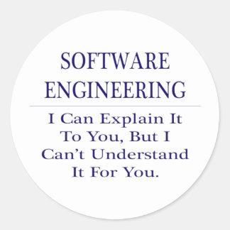 Software Engineering .. Explain Not Understand Classic Round Sticker