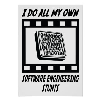 Software Engineering Stunts Poster