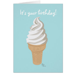 Softy Cone Birthday Card