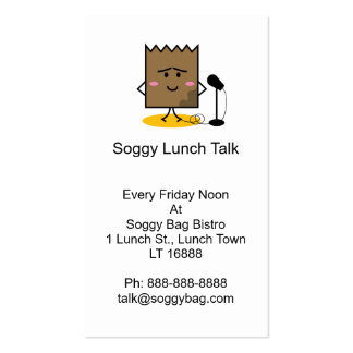 Soggy Lunch Bag Business Card