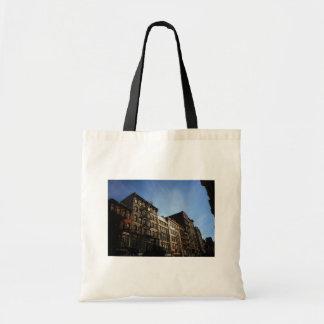 Soho Buildings In The Sun, New York City Canvas Bags