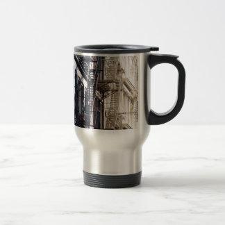 soho fireescapes coffee mug