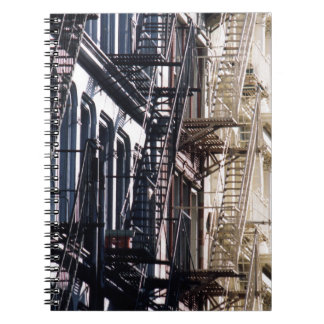 soho fireescapes spiral notebook