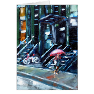 Soho in the Rain Greeting Card