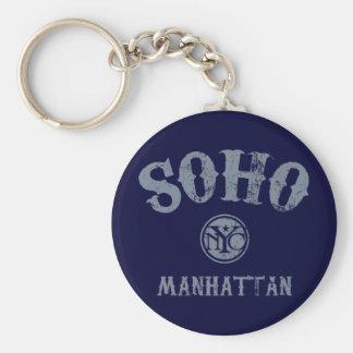 SoHo Basic Round Button Keychain
