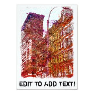 """Soho, New York City 5"""" X 7"""" Invitation Card"""