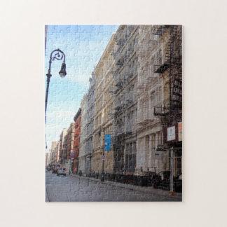 SoHo NYC Downtown Manhattan New York City Street Jigsaw Puzzle