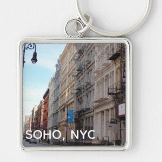 SoHo NYC Downtown Manhattan New York City Street Keychain