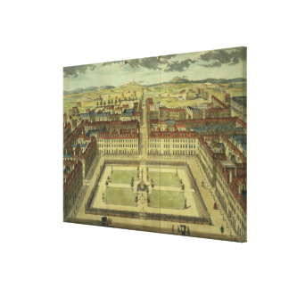 Soho or King's Square, for 'Stow's Survey of Londo Stretched Canvas Print