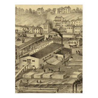 Soho Saw and Planing Mills and Barge Yards Postcard