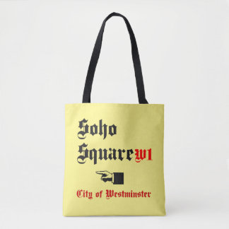 Soho Square and Downing Street, Tote Bag