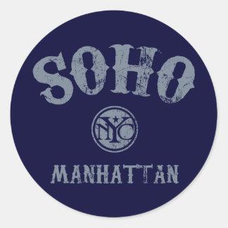 SoHo Round Sticker