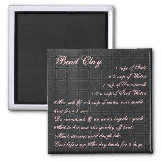 Soie d'aimant de recette d'argile de perle magnet carré