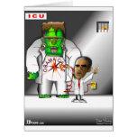 Soin d'Obama dans ICU Cartes De Vœux