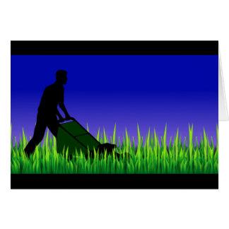 soin vert de pelouse de scène carte de vœux