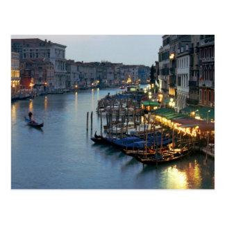 Soirée de Venise - canal grand Cartes Postales
