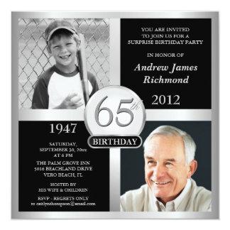 soixante-cinquième Invitations d'anniversaire puis