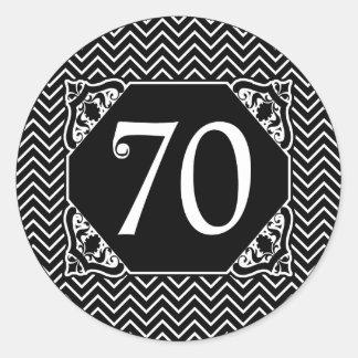 Soixante-dixième anniversaire de Chevron Adhésif