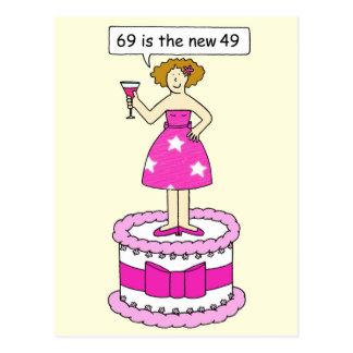 soixante-neuvième Humeur d'âge d'anniversaire pour Carte Postale