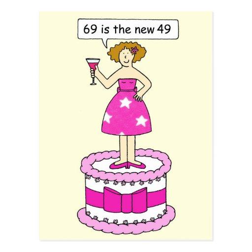 soixante-neuvième Humeur d'âge d'anniversaire pour Cartes Postales