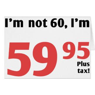 Soixantième anniversaire d'amusement plus l'impôt carte de vœux