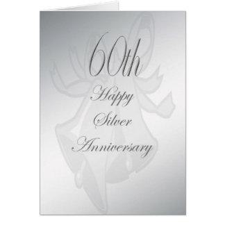 soixantième Carte d'anniversaire de mariage